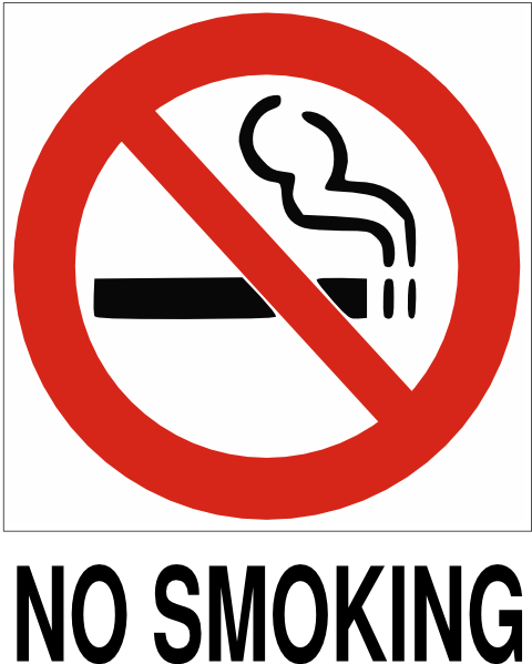 No Smoking With Text Clip Art 6636