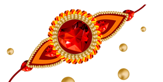 Red, Diamonds, Rubies, Gold, Beads, Rakhi Png Pictures 5198