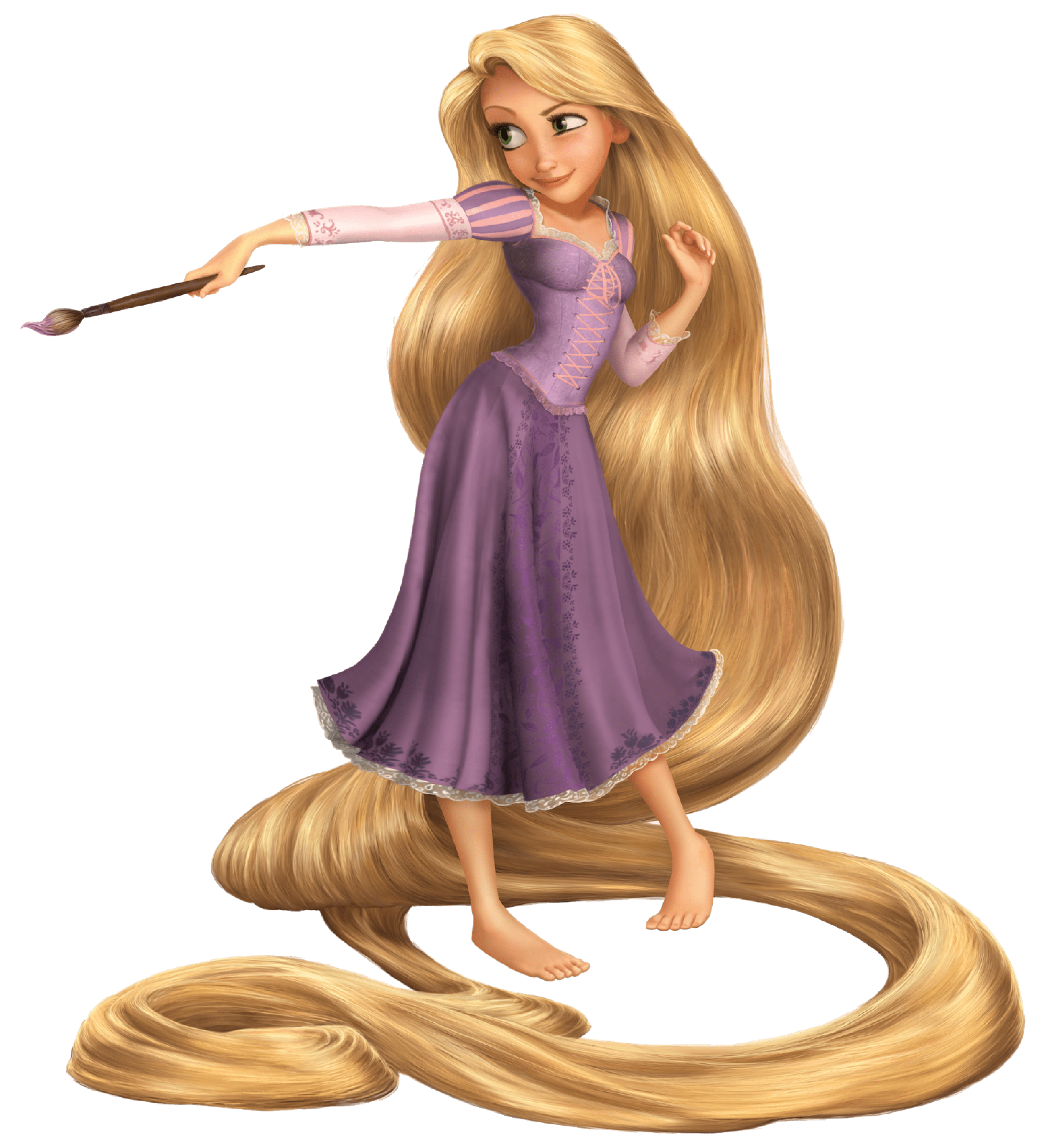 Rapunzel Long Hair Cut Out