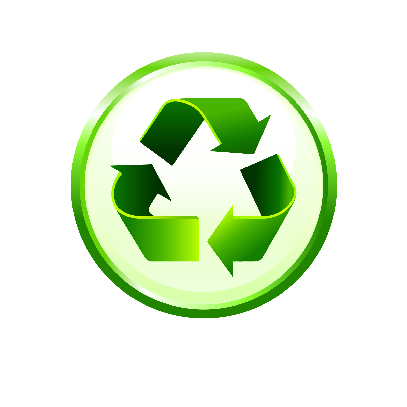 Green, Recycle Logo Png Clipart Image 3848
