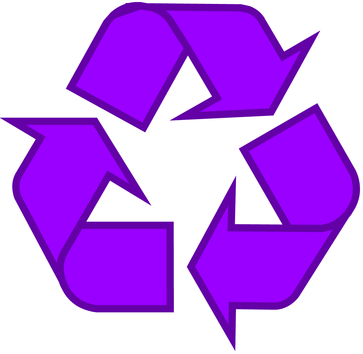 Purple Recycling Symbol Recycle Logo, Png 3837