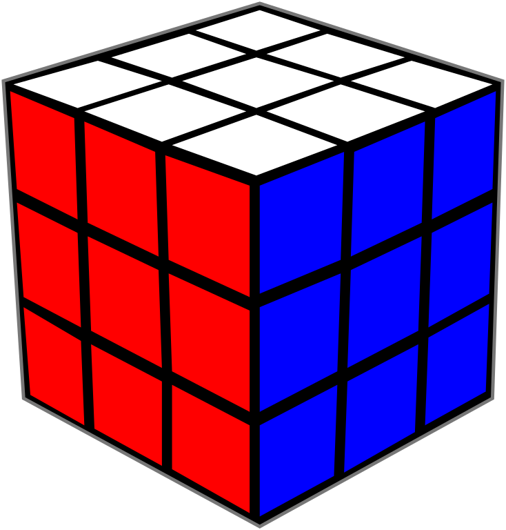 Rubiks Cube White And Blue Background 25695