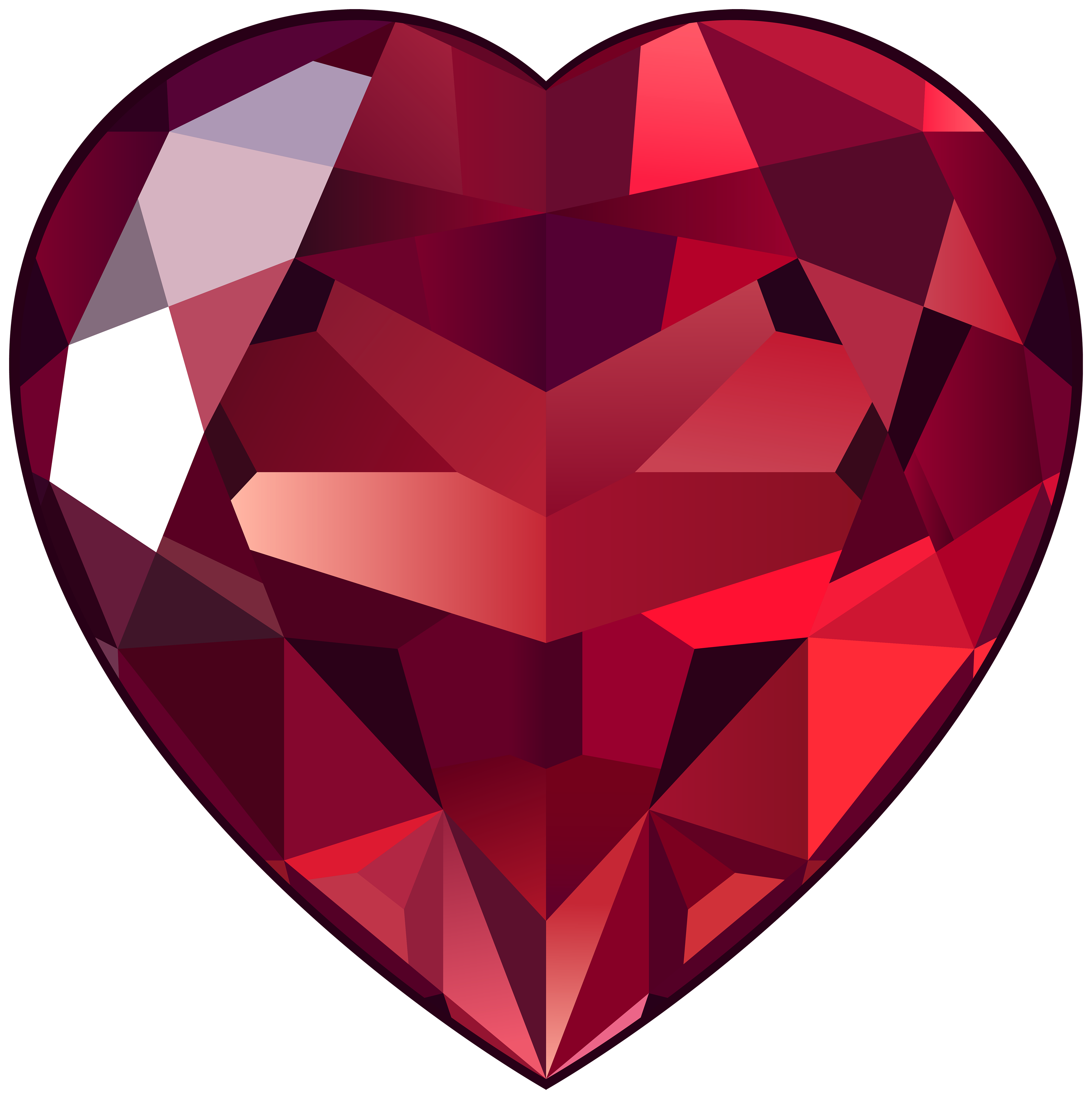 Ruby Heart Png Clipart Pictures