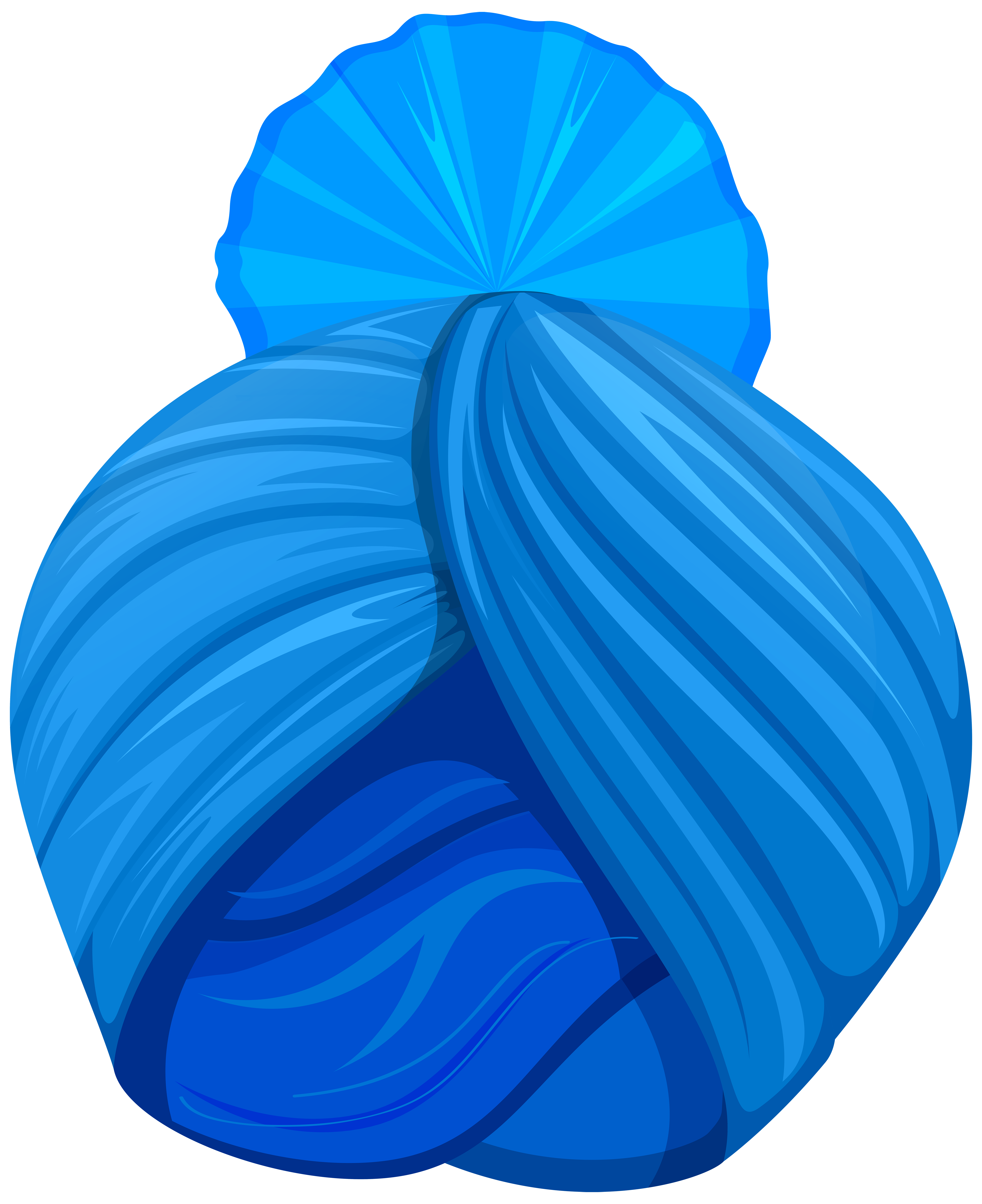 Download Blue Sikh Turban PNG