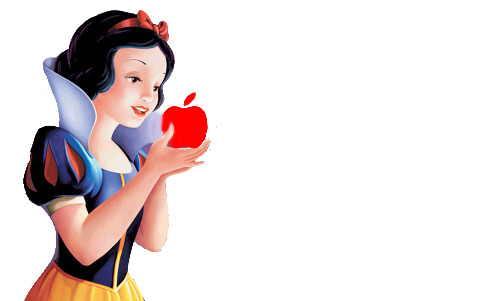 Beautiful Eating Fruit, Snow White Png 318