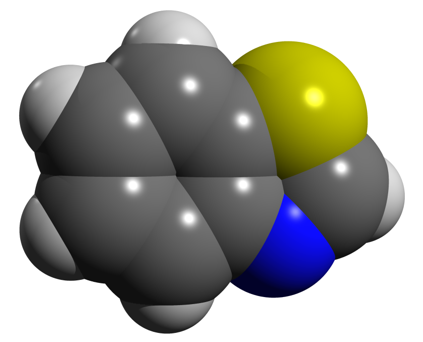 Benzothiazole Space Filling Png 3737