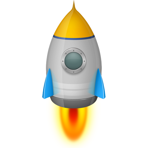 Space Rocket Silver Icon Png 3740