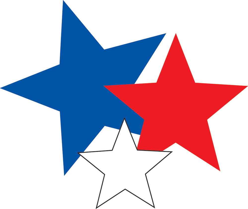 Star Clipart Blue, Red, White Icon Clipart 21070