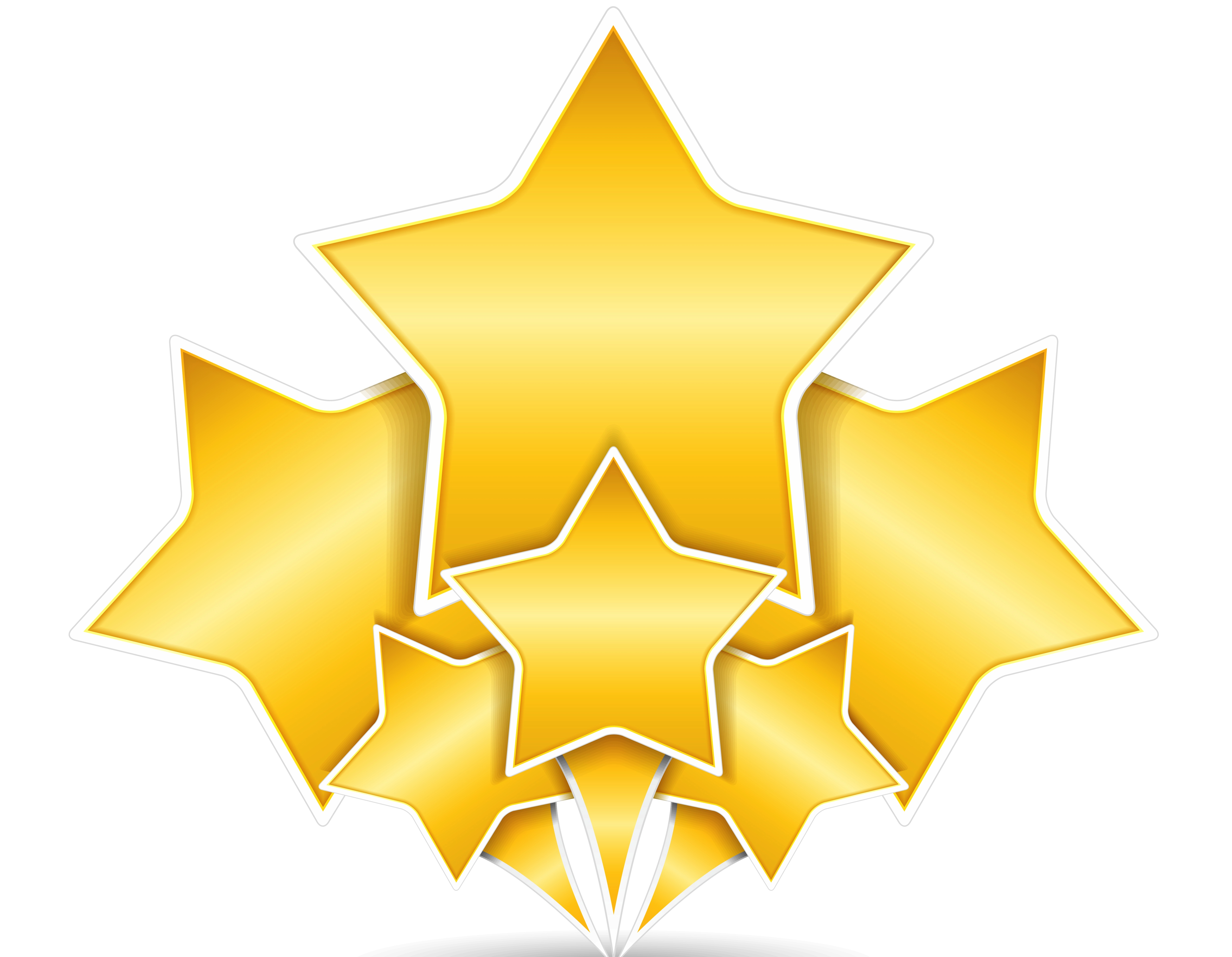 Gold Stars Clipart Free Transparent Png