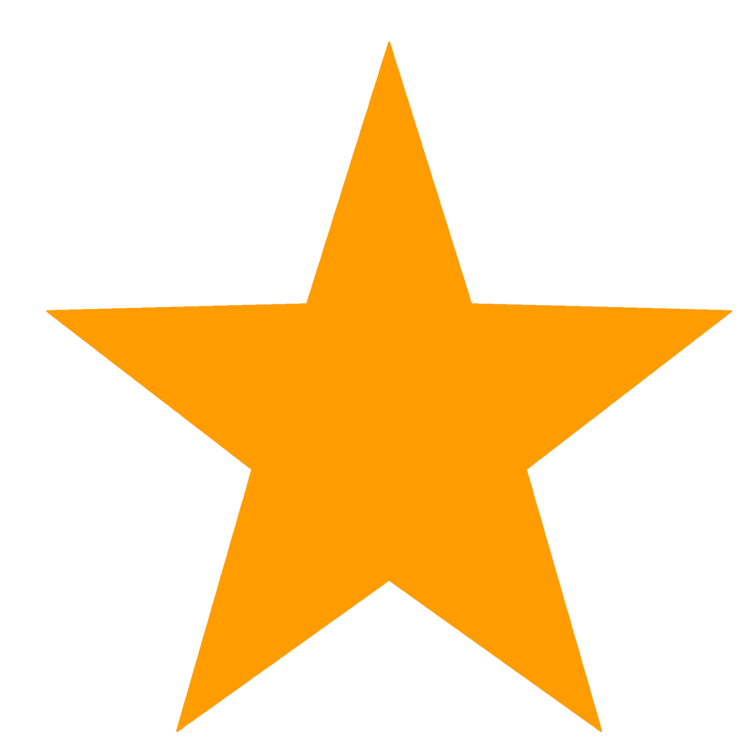 Star Clipart Orange Free PNG 21071