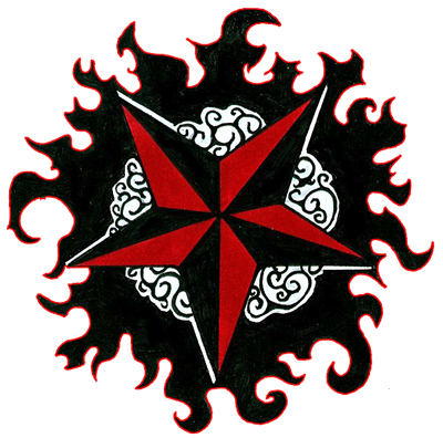 Star Tattoos PNG Picture 7036