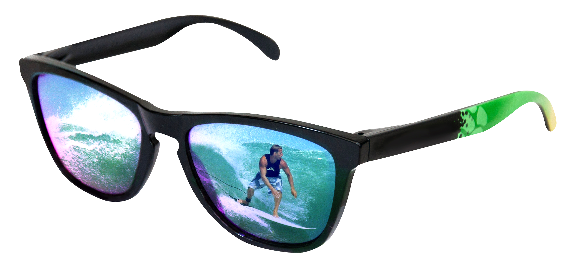 Sunglasses With Surfer Reflection Png Images 3850
