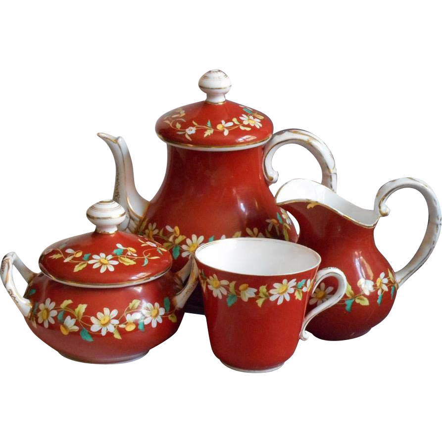 Red Tea Set HD Image 25825