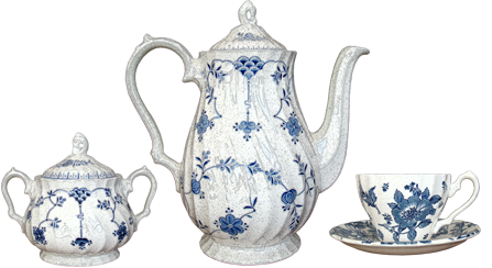 Blue And White Tea Set Transparent Background 25832
