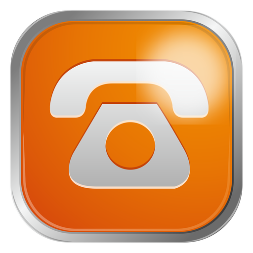 Orange Telephone Icon Transparent Png 969