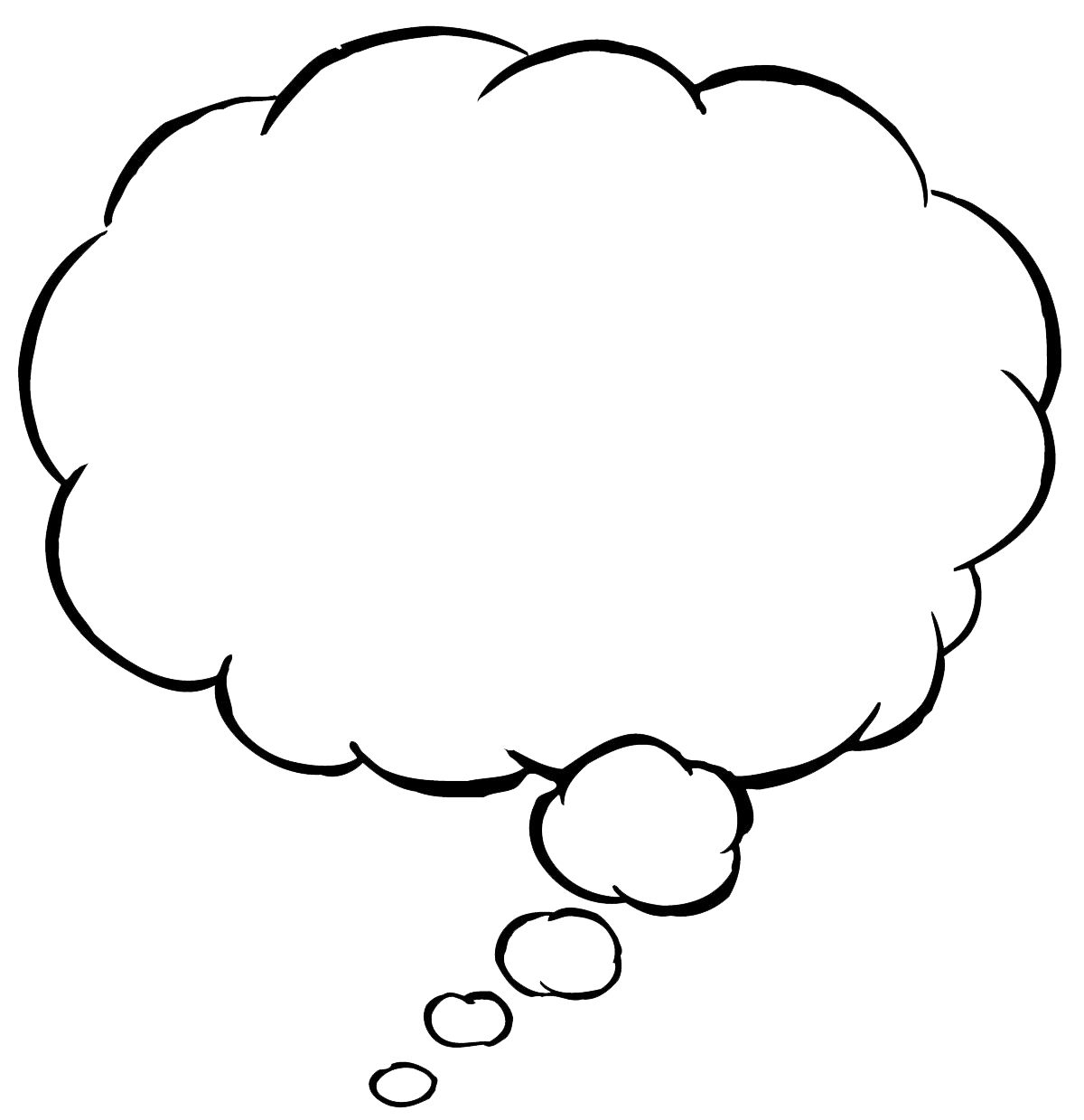 Thinking Bubble Png - 3595 - TransparentPNG