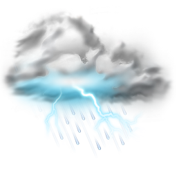 Thunder Lightning Storm Icon Weather Png 1553