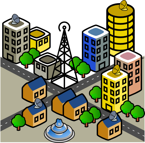 Town Clipart PNG File 23693