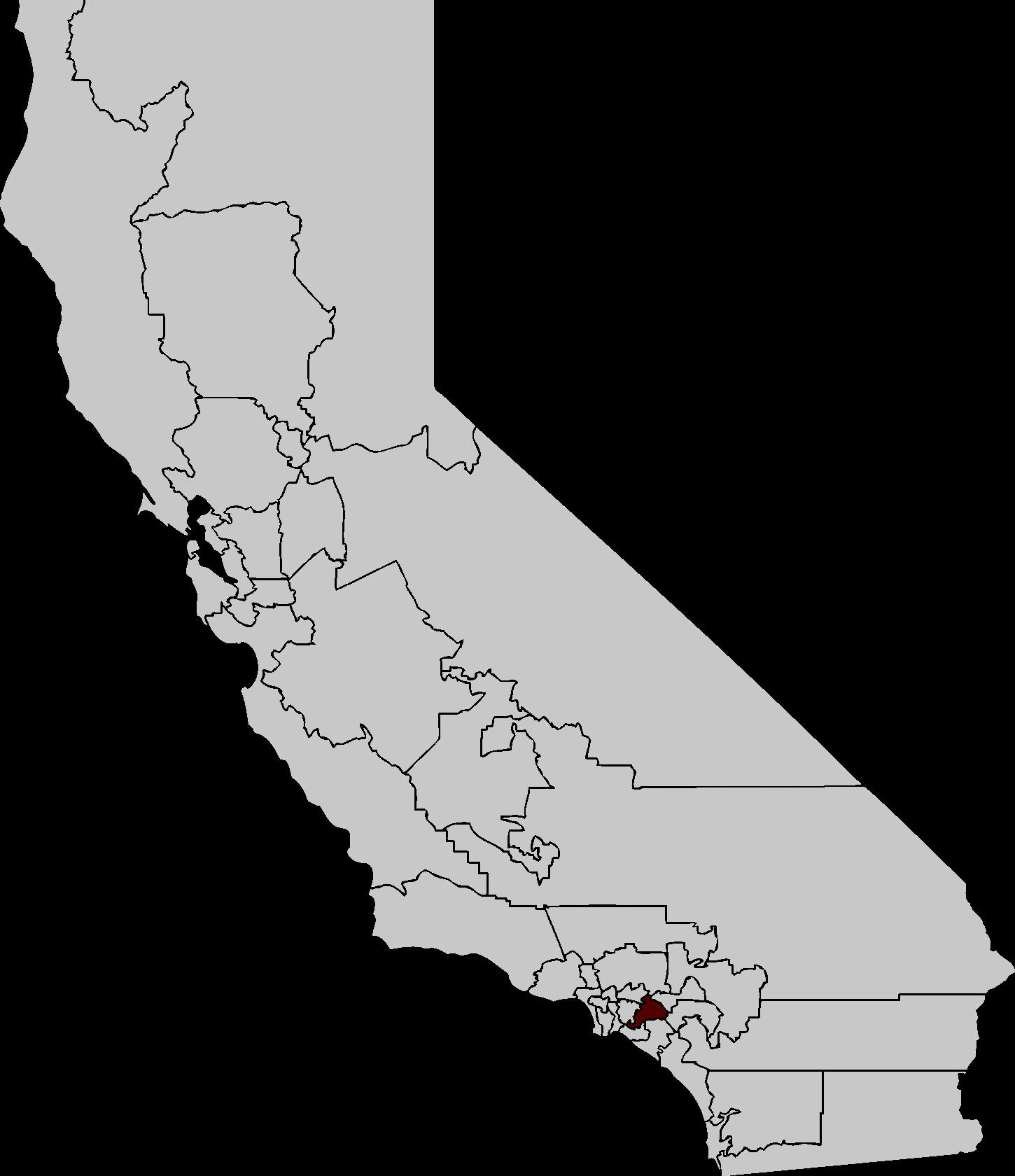 California Map Image 165 Transparentpng