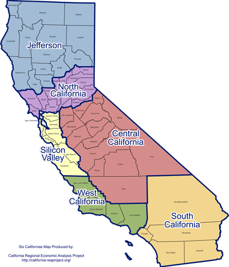 California Regional Map Png 179