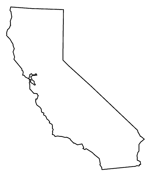California State Outline Png 170