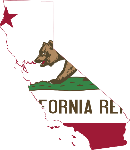 Flag Map Of California Png 161