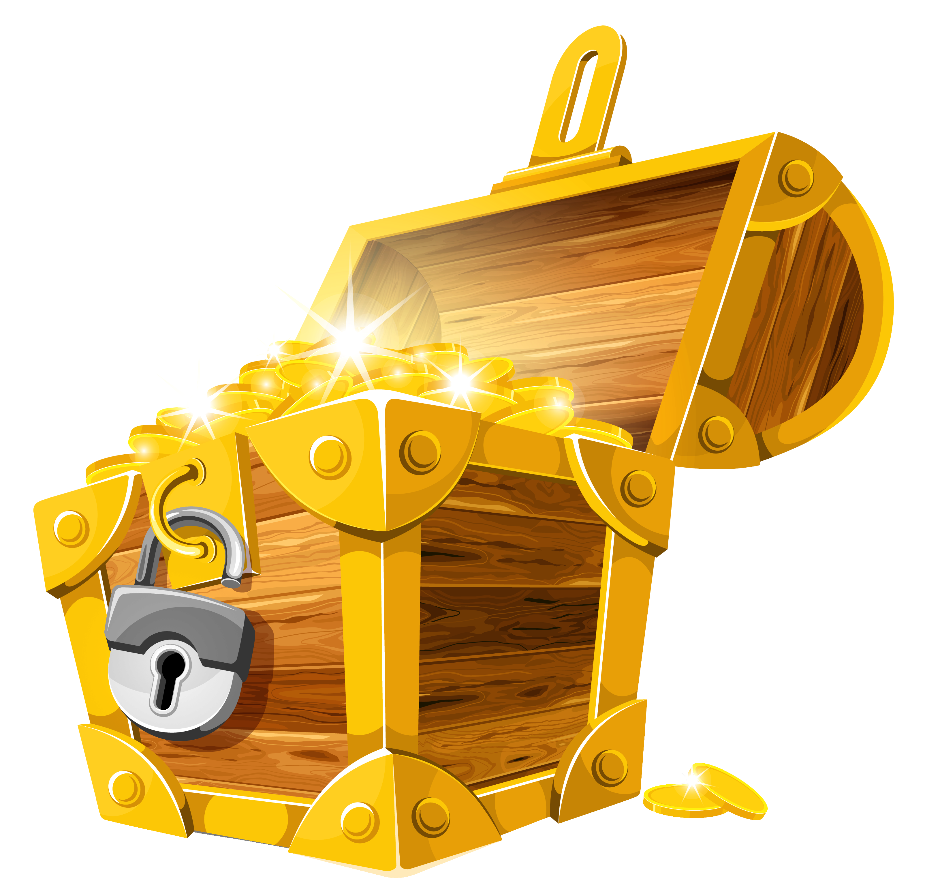 Gold Treasure Chest Clipart