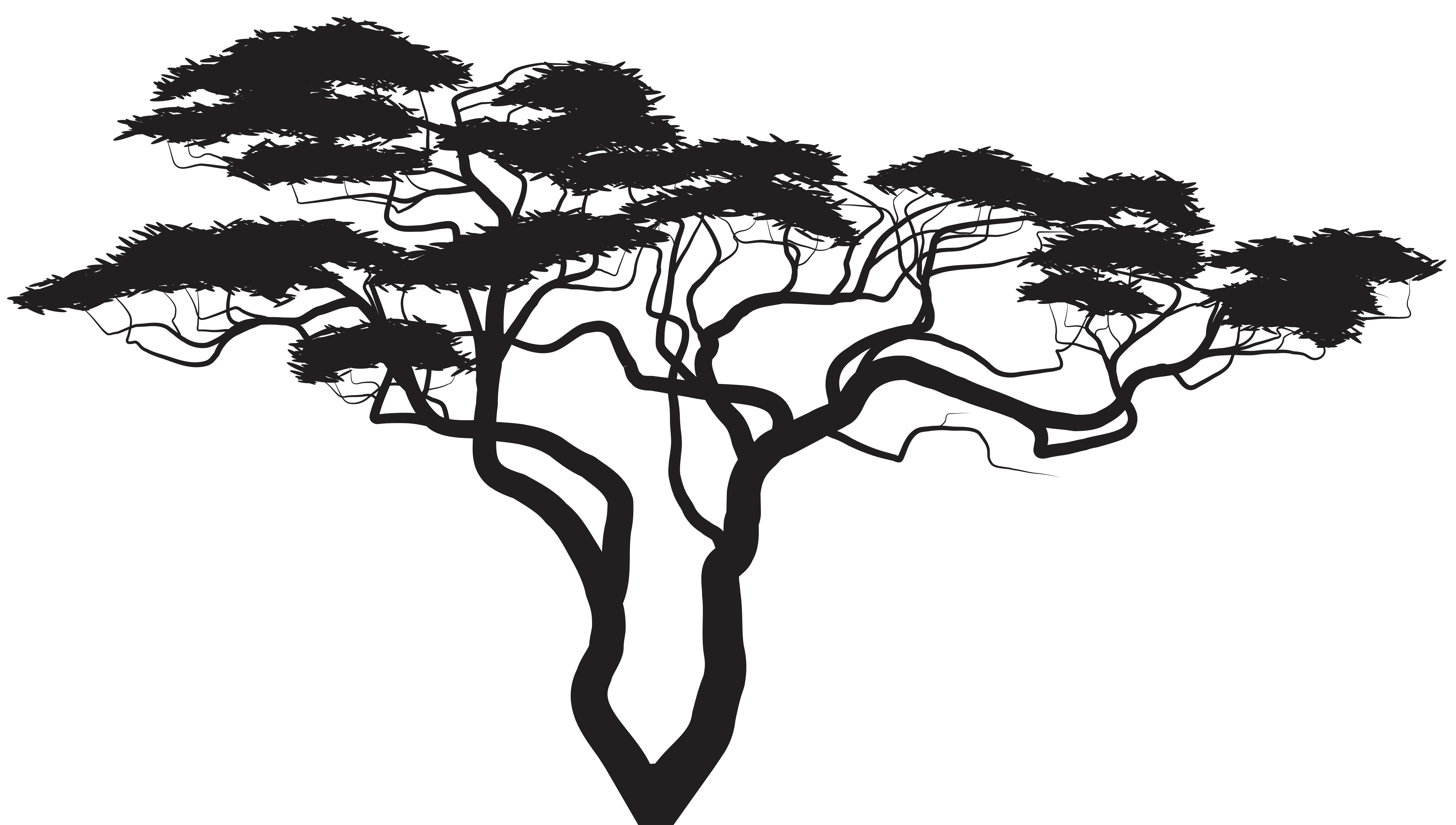 Tree Silhouette File Clipart PNG