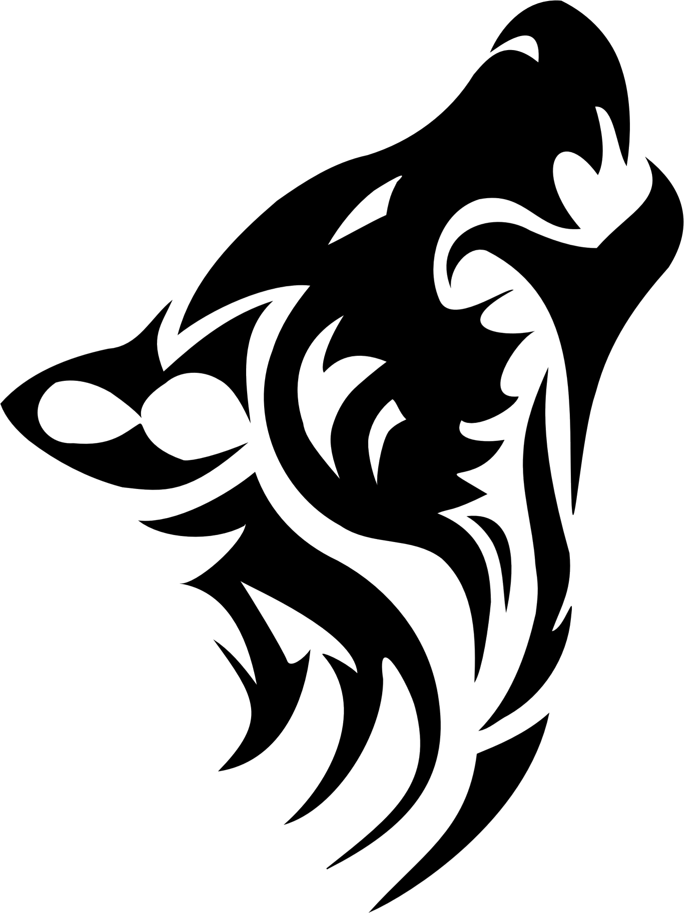 Wolf Tribal Tattoos Png Transparent Images  6690