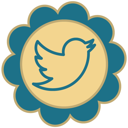 Twitter Retro Social Media Icons Png 5987