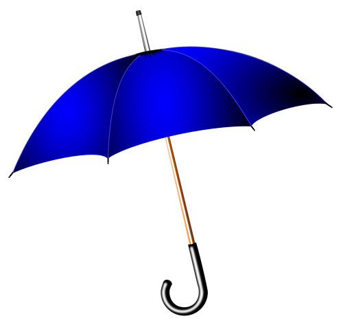 Umbrella Blue Cut Out 19522