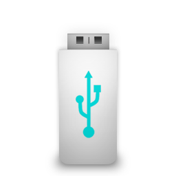 White Usb Flash Picture 25298