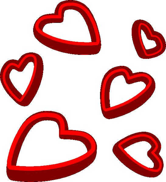 Valentine Hearts Clip Art At 6627 Transparentpng