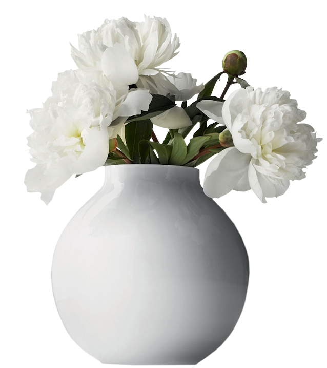 White Flower Vase Pictures - 1534 - TransparentPNG