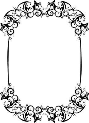 Black And White Frame Vector Png 264