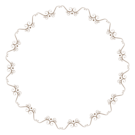 Circle Frame With Delicate Floral Ornaments Png 269