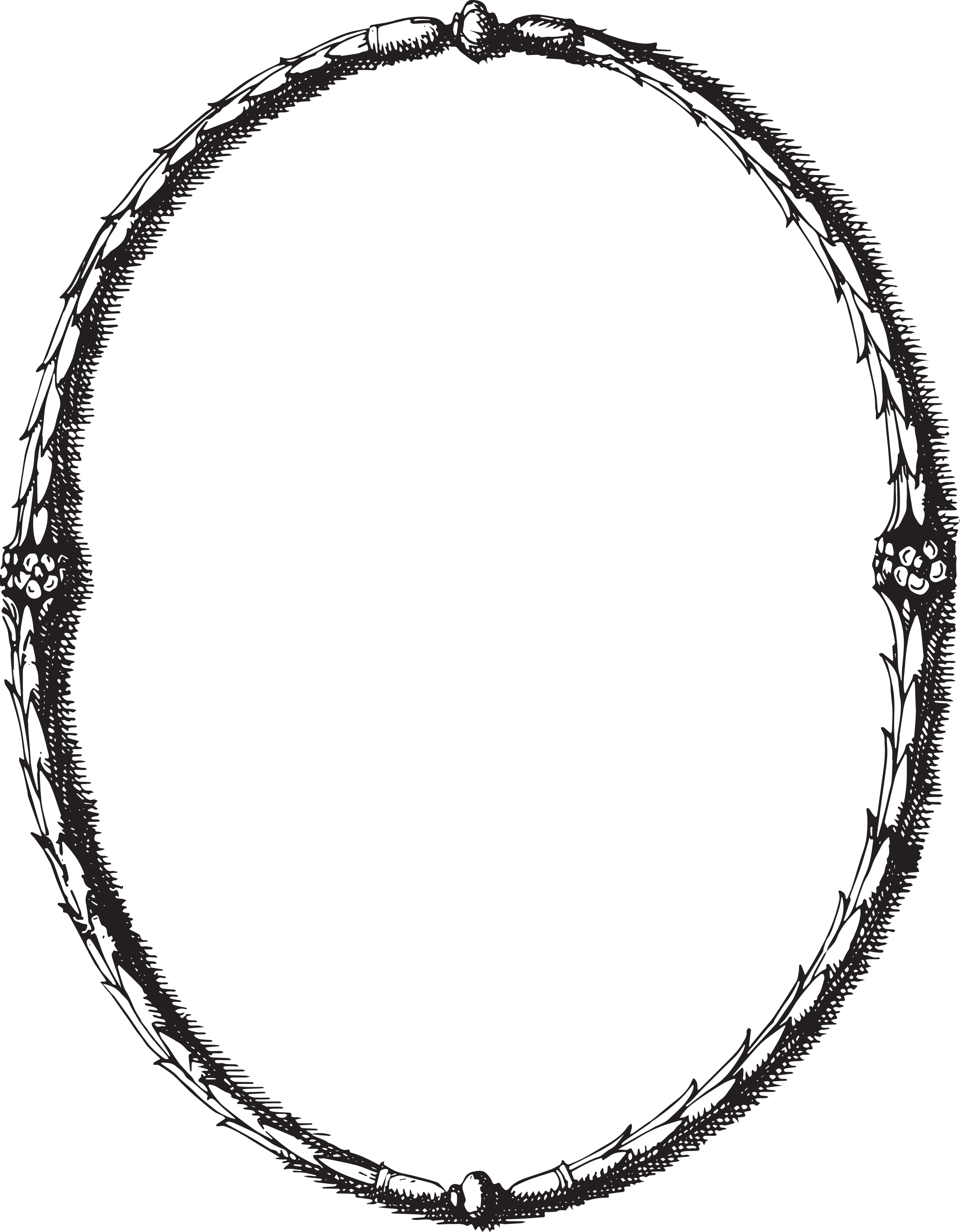 Oval Victorian Frames Clipart 279