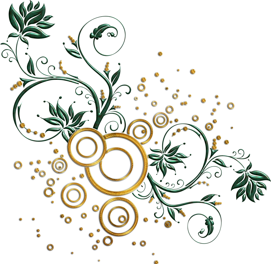 Golden Vector Swirl Png Picture 4439