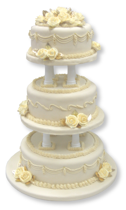 Gold Wedding Cake Png 1443