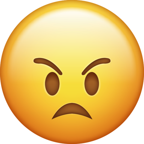 PNG Frowning Yellow Angry Whatsapp Emoji 27153