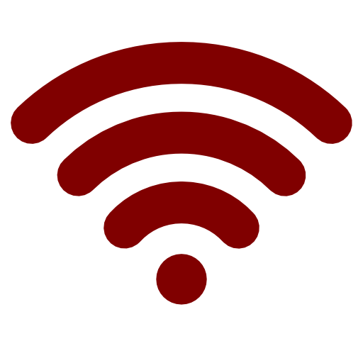 Red Maroon Wifi Icon Png 6232