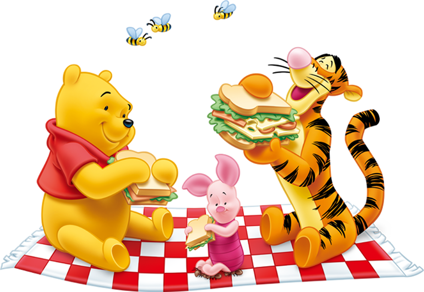 Winnie The Pooh And Tiger Png Clipart 1636