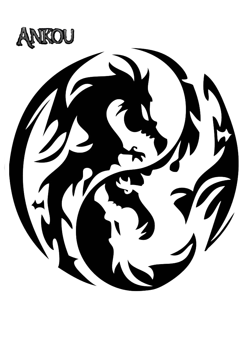 Render Dragon Yin Yang Tatouage Images 6037 Transparentpng
