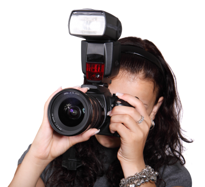 Woman Taking Photo With Digital Camera Png Image