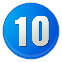 Blue 10 Numbers Photo Png PNG Images