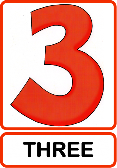 Three, 3 Numbers Icon PNG Images