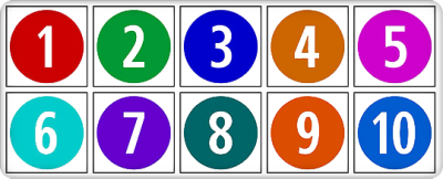 1 To 10 Numbers Cut Out Png PNG Images