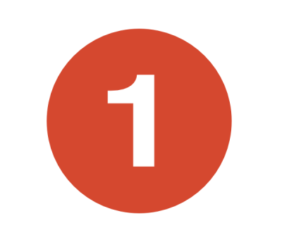 Red 1 Numbers Free Transparent PNG Images