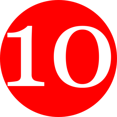 Red 10 Numbers Png PNG Images