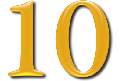 10 Numbers Icon Clipart PNG Images